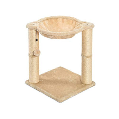 AmazonBasics Cat Condo Tree Tower With Hammock Bed And Scratching Post