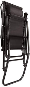 Amazon Basics Foldable Rocking Chair with Canopy, Black