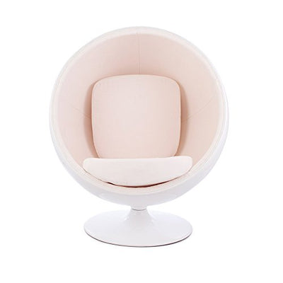 Modern Swiveling Lounge Reading Ball Chair: White