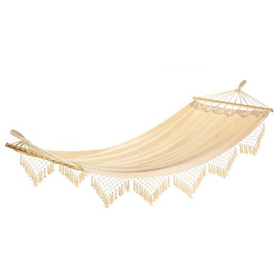 Zings & Thingz Fringed Hammock, Cream