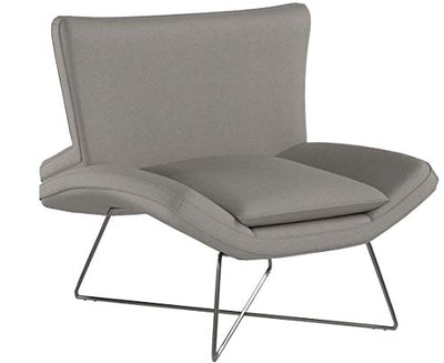 Rivet Farr Lotus Modern Accent Lounge Chair: Grey