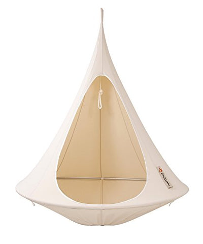 Single Cacoon Hanging Tent in Natural White