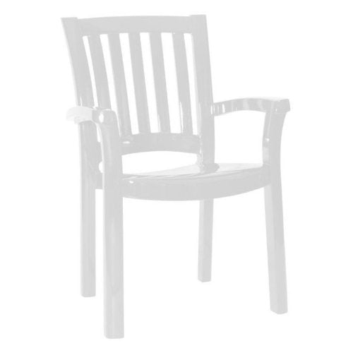 Compamia Sunshine Resin Patio Chair in White