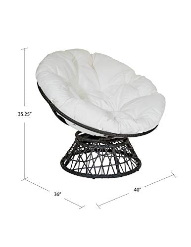 OSP Designs Papasan Chair with 360-degree Swivel