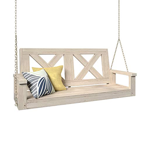 700 Lb Farmhouse Porch Swing With Chains (5 Foot, Unfinished)
