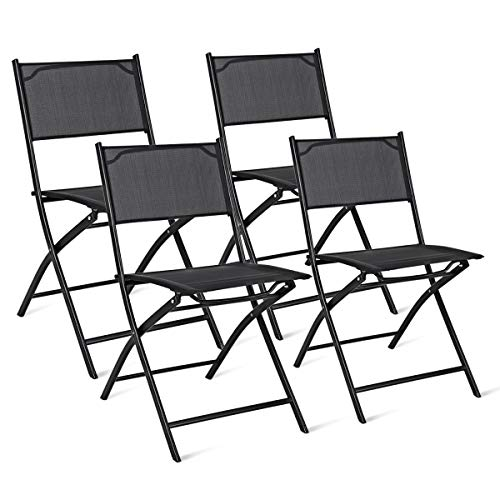 Giantex 4 PCS Folding Patio Chairs