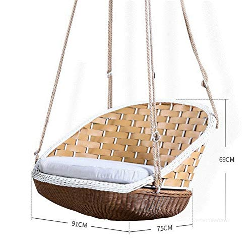 Casual Rattan Hanging Basket Swing Chair