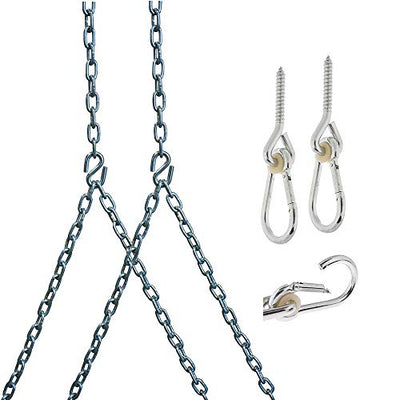 Heavy Duty 700 Lb Porch Swing Hanging Chain Kit: (10 Foot Ceiling)