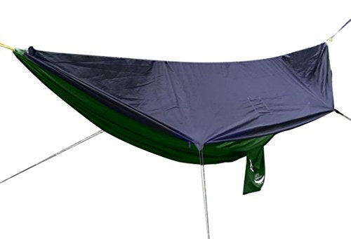 Go Outfitters Camping Hammock with Built-in Mosquito Net, Forest Green