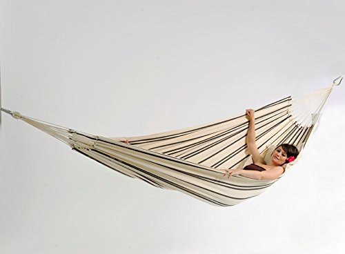 Barbados Single Brazilian Hammock: Cappuccino