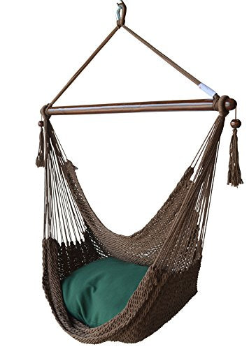 Caribbean Hammocks Chair with Footrest: Mocha