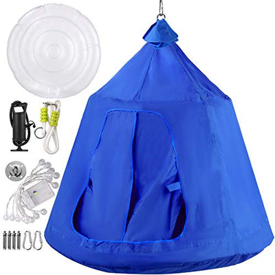 Happybuy Hanging Tree Tent, Max.440lbs Capacity Tree Tent Swing: Blue