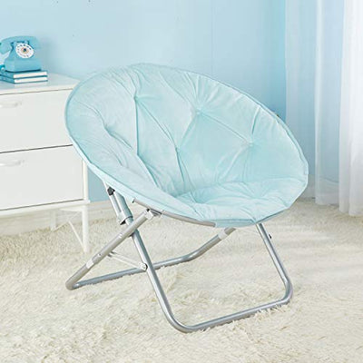 Urban Shop Micromink Saucer Chair,  Light Blue Mint