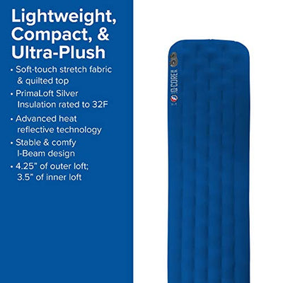 Big Agnes Q-Core Deluxe Sleeping Pad, Wide Long (25x78)