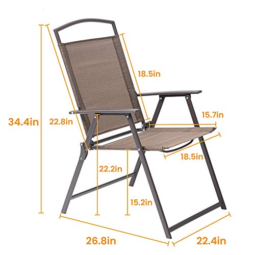 Set of 4 Patio Folding Chairs
