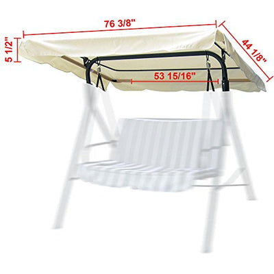 "Yescom 76 3/8"" x 44 1/8"" Outdoor Swing Cover Replacement Canopy"