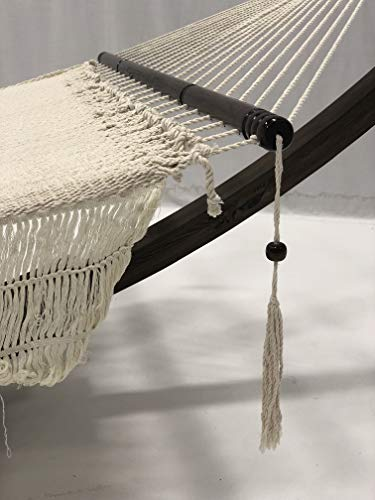 Hand Woven Bohemian Chic Rope Hammock Bed: Beige