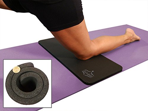 "SukhaMat Yoga Knee Pad 15mm (5/8"") Thick: Black"