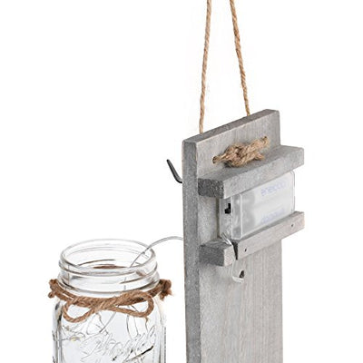 Rustic Hanging Mason Jar Sconces: Set of 2