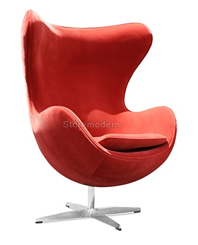 Arne Jacobsen Egg Chair in Leatherette or Cashmere [6 Colors]