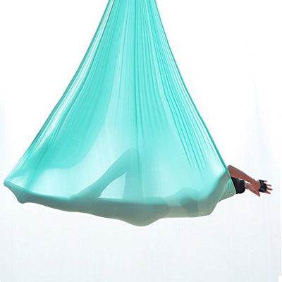 Premium Aerial Yoga Hammock Silk with Daisy Chain,Carabiner and Pose Guide