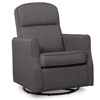 Delta Children Blair  Nursery Glider Swivel Rocker Chair, Charcoal