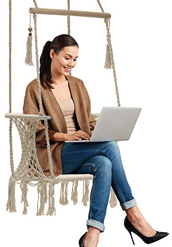 Sorbus Hammock Chair Macramé Swing with Spreader Bar
