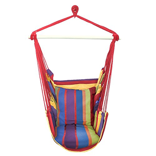 Hanging Rope Hammock Chair Swing Seat [5 Colors]