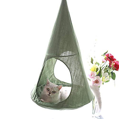 ALXDR Cat Hammock Hanging Bed: Green