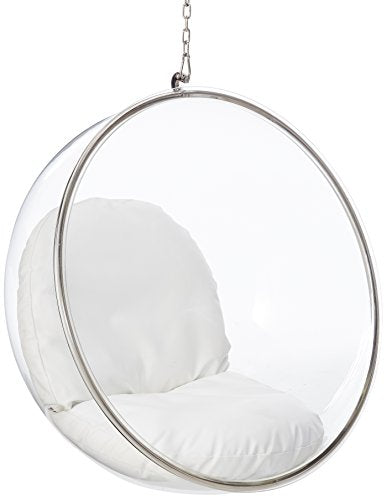 Fine Mod Bubble Hanging Chair- White