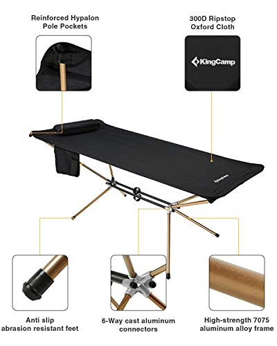 Portable Folding Lightweight Hammock Bed with Aluminum Stand