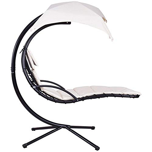 Hanging Chaise Lounger Chair Arc Stand Swing Hammock