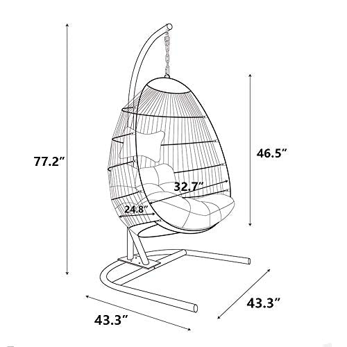 JOYBASE Hanging Egg Swing Chair with Stand