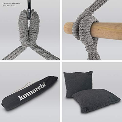 Hammock Chair for Indoor and Outdoor: Grey