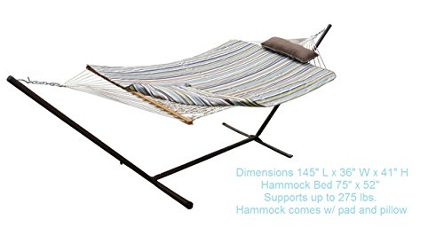 Hammock and Stand Set with Pad & Pillow