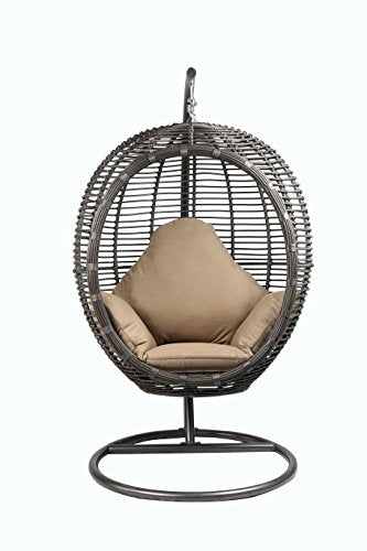 oval egg hanging patio lounge chair porch swing - Patio Lounge Chairs