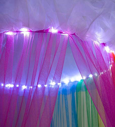 HearthSong Rainbow Hideaway Canopy with LED Lights