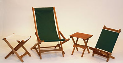 Byer of Maine 235P Pangean Lounger/ Portable Wooden Chair, Green