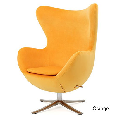 Arne Jacobsen Style New Velvet Swivel Contour Egg Chair