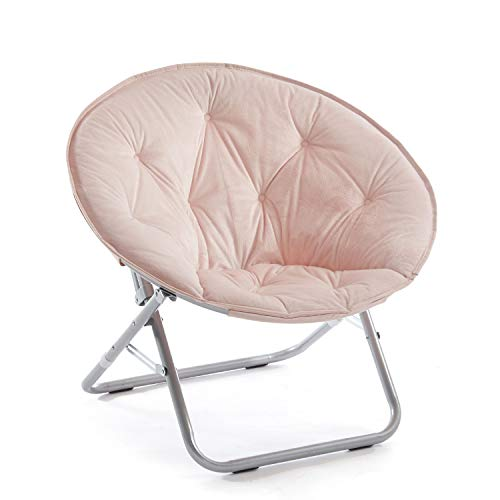 Urban Shop Micromink Saucer Chair, Blush