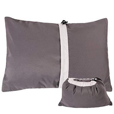 REDCAMP Camping Pillow for Sleeping Lightweight and Compressible, Small Pillow for Travel Backpacking Hammock, Peach Skin Grey