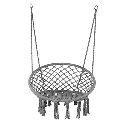 Macrame Hanging Chair: Gray