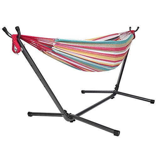 ONCLOUD Double Hammock with Stand 9 FT Space Saving