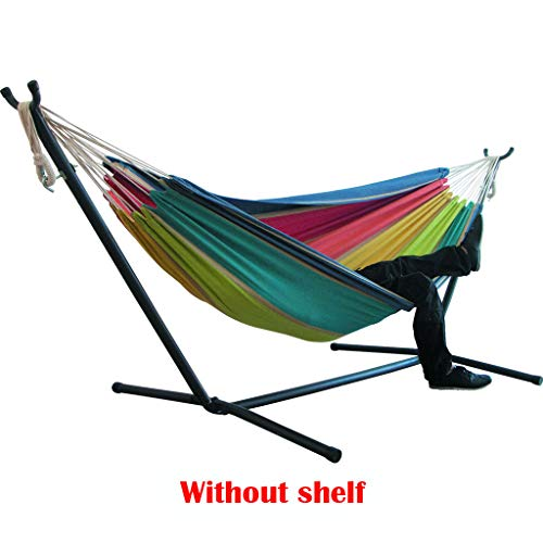 Double Hammock with Space Saving Steel Stand