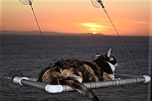 "Original KITTY COT ""World's BEST Cat Perch Hammock"""