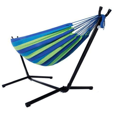 TechFaith Double Hammock Two Person Adjustable Hammock Bed with Space Saving Steel Stand