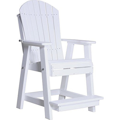 LuxCraft Counter Height Recycled Plastic Adirondack Balcony Chair