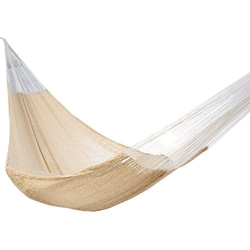 Amber Home Goods AASMH-1903 Mayan Double Sleeping Hammock, White