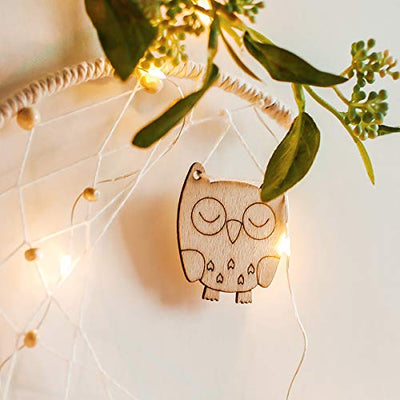 Handmade Moon Owl Design Woven Cotton Dream Catcher