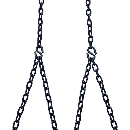 Heavy Duty 700 Lb Porch Swing Black Hanging Chain Kit (8 Foot Ceiling)